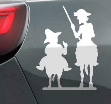 Don Quijote und Sancho Panza Aufkleber
