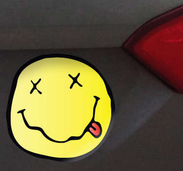 Nirvana Face Car Sticker