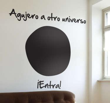 Vinilo decorativo agujero universo