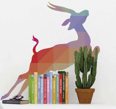 Wall Stickers  - Silhouette design of an Antelope. Distinctive and ideal for decorating any space. Select a size and colour.