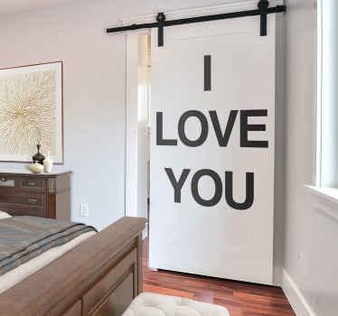 I Love You Text Sticker