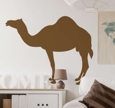 Wall Stickers  - Silhouette design of a Camel. Distinctive and ideal for decorating any space. Select a size and colour.