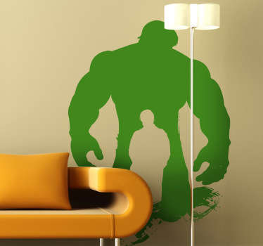 Adesivo bambini silhouette Hulk