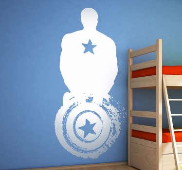 Adesivo bambini silhouette Captain America
