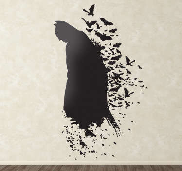 Wall sticker of Batman. Great if your child is a batman fan. It's no secret that all kids, without any exception whatsoever, idolize Batman.