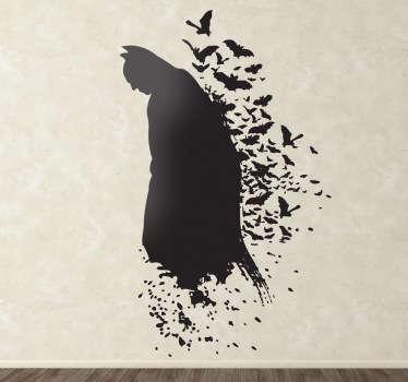 Adesivo silhouette uomo pipistrello
