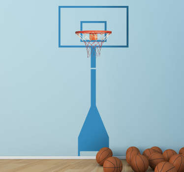 Wall sticker of a basketball ring for those that love this fascinating sport. Play at home like a professional!