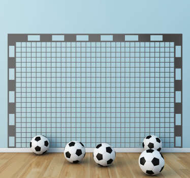Football Wall Stickers - Illustration of a rectangular goal post with a net. Sports wall stickers ideal for fans and sports teams.