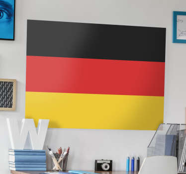 Wall Stickers - Wall mural of the German flag with the the coat of arms of Germany.