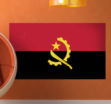 Flag of Angola Wall Sticker