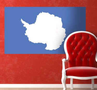 Vinilo decorativo bandera Antártida