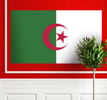 Wall Stickers - Wall mural of the Algerian flag.