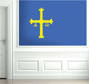 Vinilo decorativo bandera Asturias