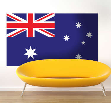 Wall Stickers - Wall mural of the Australian flag. Ideal for those who adore the country and its culture.