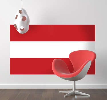 Wall Stickers - Wall mural of the flag of Austria. Available in various sizes.