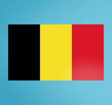 Wall Stickers - Wall mural of the flag of Belgium. Home of Brussels. Zero residue upon removal. Custom made to order now.