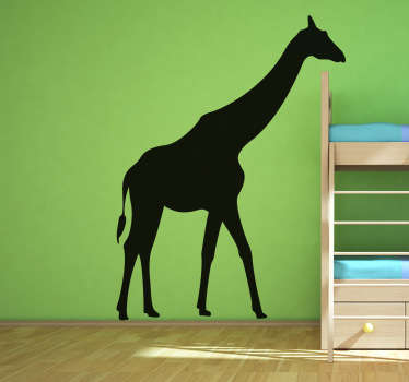 A giraffe wall sticker to decorate the bedroom or play area of the little ones! A fantastic silhouette that your kids will love.