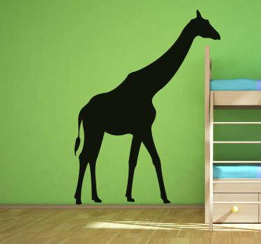 Sticker decorativo silhouette giraffa