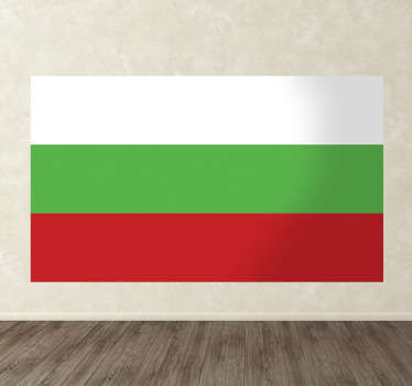 Wall Stickers - Bulgarian flag wall mural. Available in various sizes.
