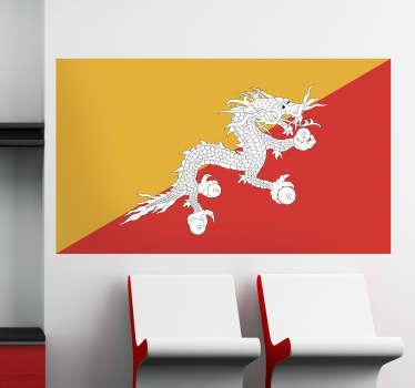 Naklejka flaga Bhutanu