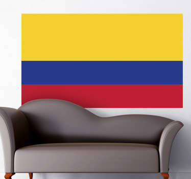 Decals - Mural of the Colombian flag. Ideal for homes or businesses. Suitable for decorating gadgets and appliances. Available in various sizes.
