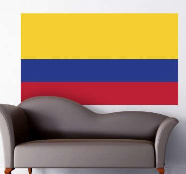 Wandtattoo Flagge Kolumbien