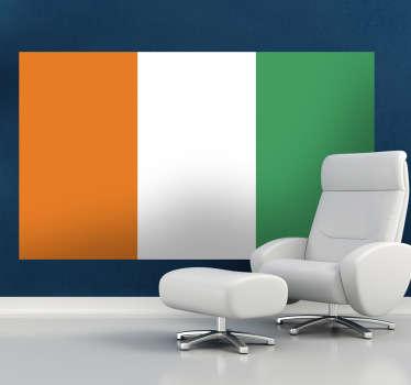 Sticker decorativo bandiera Costa d'Avorio