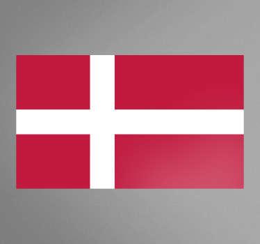 Autocollant mural drapeau Danemark