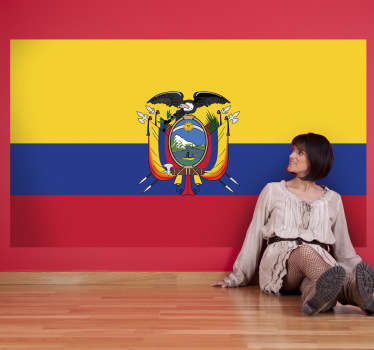 Decals - The Ecuadorian flag. Ideal for homes or businesses. Suitable for decorating gadgets and appliances. Available in various sizes.
