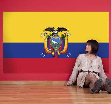 Muursticker vlag Ecuador