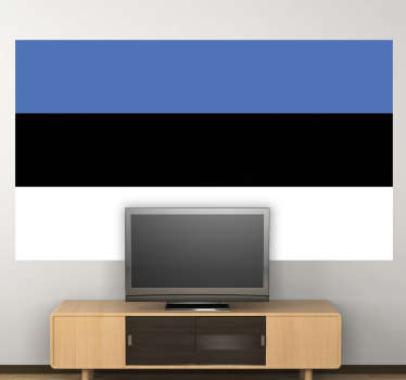 贴花-爱沙尼亚国旗。家庭或企业的理想选择。适用于装饰小工具和电器。提供各种尺寸。