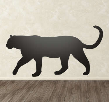 Wall Stickers  - Silhouette design of a Panther. Distinctive and ideal for decorating any space. Select a size and colour.