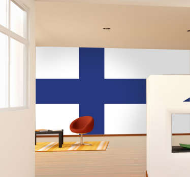 Decals - The Finnish flag. Ideal for homes or businesses. Suitable for decorating gadgets and appliances. Available in various sizes.