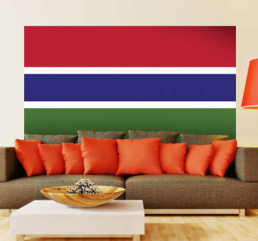 Decals - The Gambian flag. Ideal for homes or businesses. Suitable for decorating gadgets and appliances. Available in various sizes.