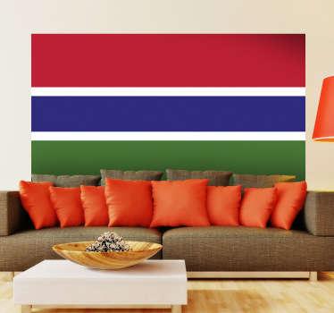 Muursticker vlag Gambia