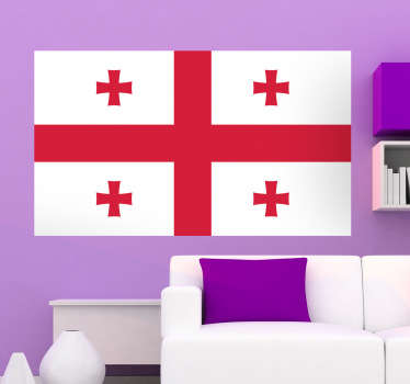 Decals - The Georgian flag. Ideal for homes or businesses. Suitable for decorating gadgets and appliances. Available in various sizes.