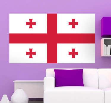 Muursticker vlag Georgië