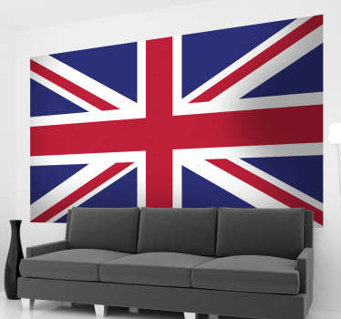 Union Jack flag wall sticker for personalising your bedroom, living room, vehicle and more! The design brings together the UK countries: England, Wales, Scotland and Northern Ireland and will bring together the decor of your room perfectly.
