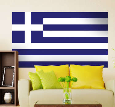 Decals - The Greek flag. Ideal for homes or businesses. Suitable for decorating gadgets and appliances. Available in various sizes.