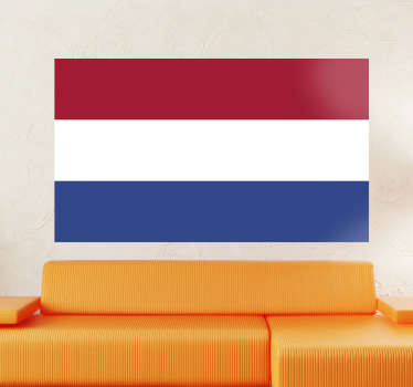 Decals - The Dutch flag of The Netherlands. Ideal for homes or businesses. Suitable for personalising gadgets and appliances.
