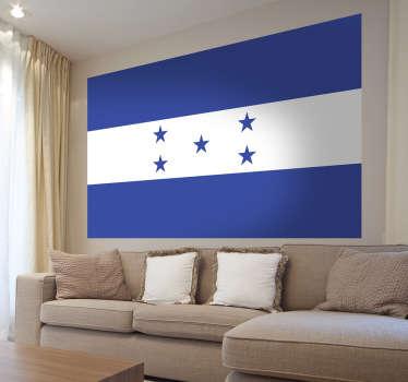 Muursticker vlag Honduras