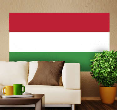 Decals - The Hungarian flag. Ideal for homes or businesses. Suitable for personalising gadgets and appliances. Available in various sizes.