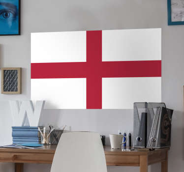 Decals - The English flag - St George´s cross. Ideal for homes or businesses. Suitable for personalising gadgets and appliances.