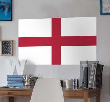 Adhesivo con la cruz de San Jorge propia de este país británico.