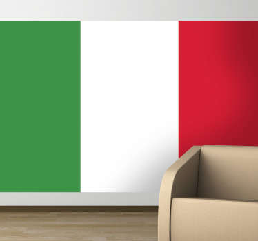 Decals - The Italian flag. Ideal for homes or businesses. Suitable for personalising gadgets and appliances. Available in various sizes.