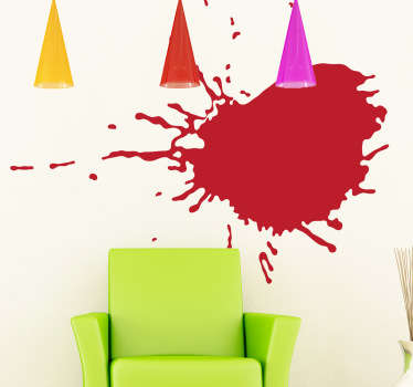 Vinilo decorativo pared sucia
