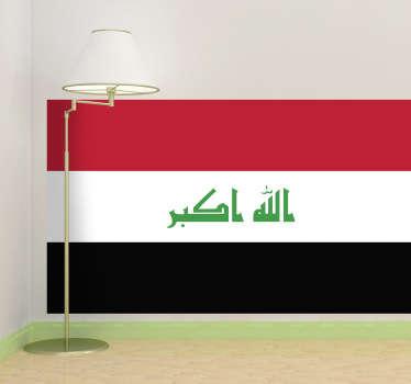 Autocollant mural drapeau Irak