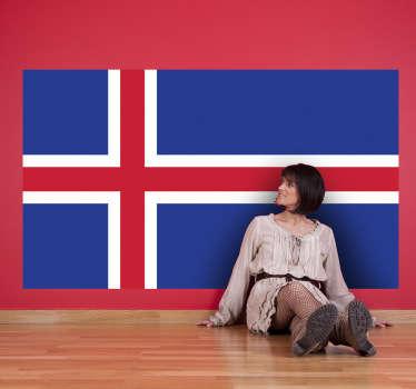 Muursticker vlag Ijsland