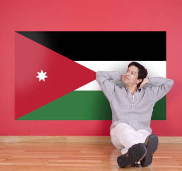 Autocollant mural drapeau Jordanie