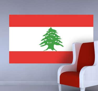 Autocollant mural drapeau Liban